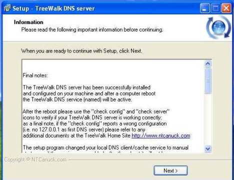TreeWalk ile DNS Sunucu Calistirma